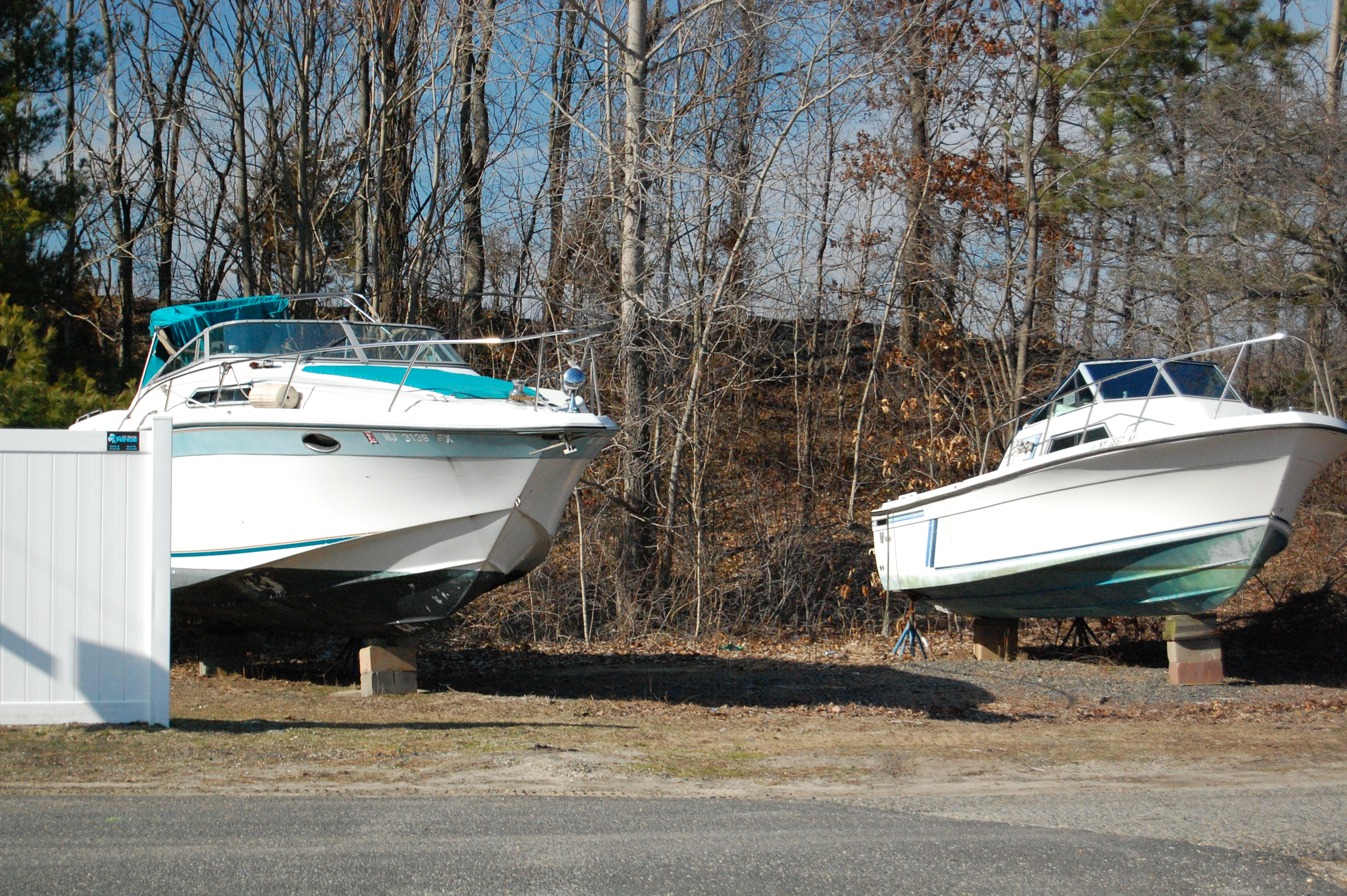 Boats behind Brick Township's municipal building, March 9, 2016. (Photo: Daniel Nee)