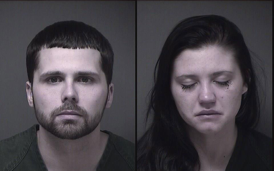 Joseph Mason and Caila Graciano, suspects in a Brick bank robbery. (Photos: Ocean County Jail)
