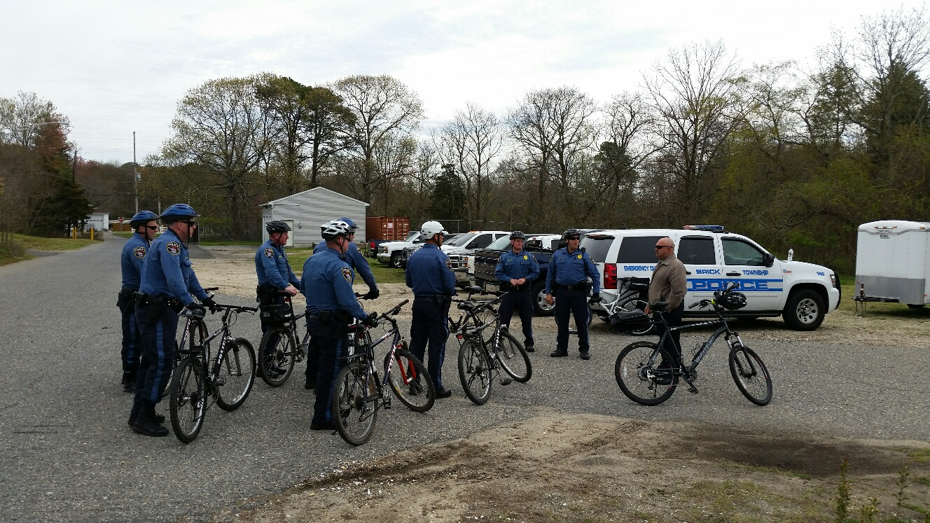 Brick police officers train for bicycle patrols. (Photo: Brick Twp. Police)