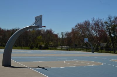 Basketball courts at Herbertsville Park. (Photo: Daniel Nee)