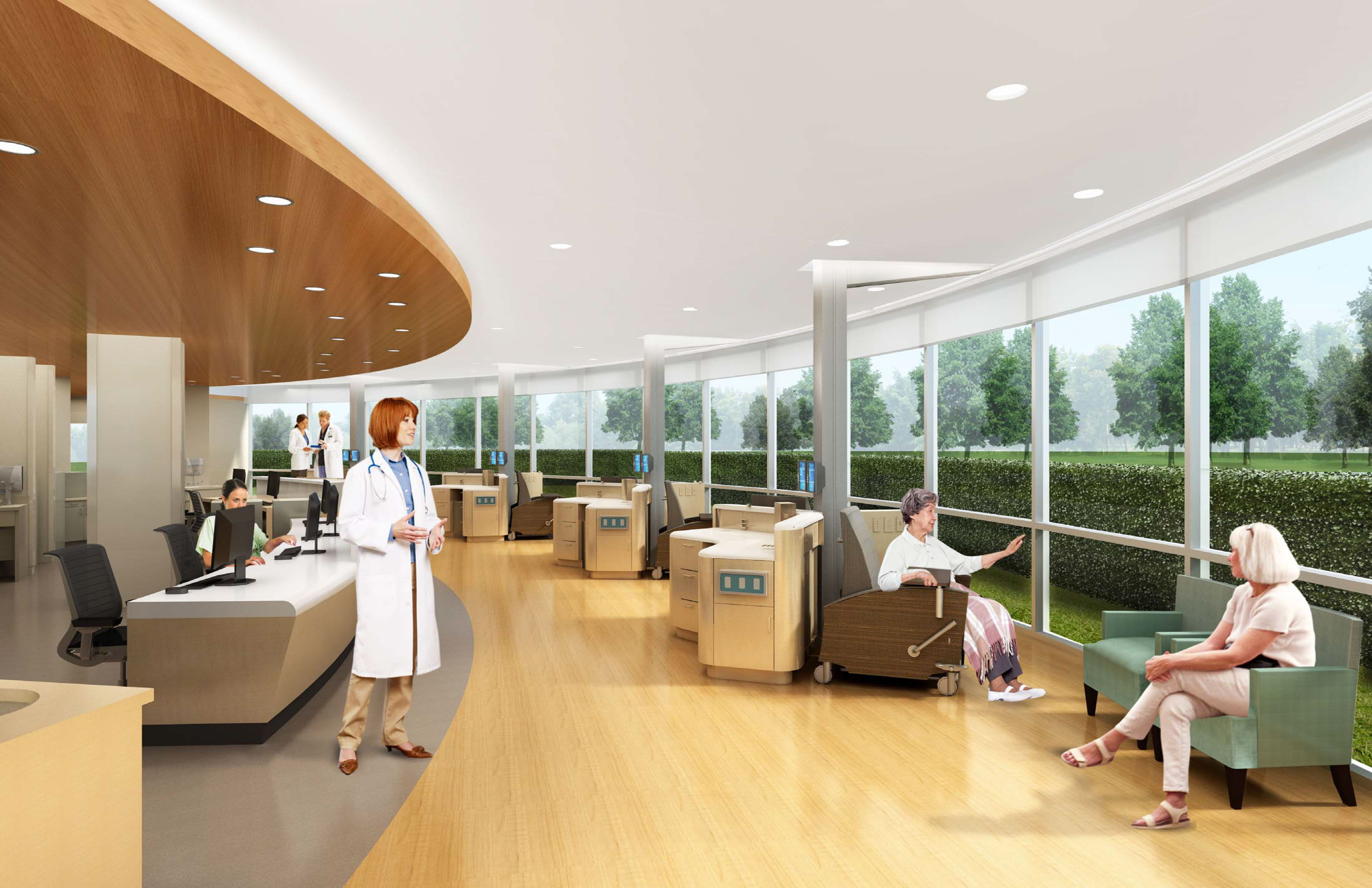 A rendering detailing the new cancer center at Ocean Medical Center. (Credit: Meridian Health)