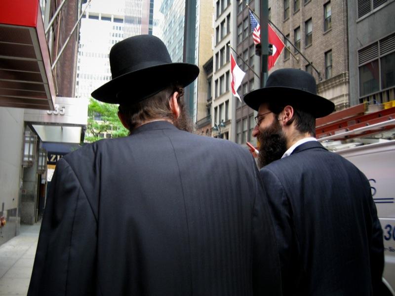 Orthodox Jewish men. (Photo: Ernst Moeksis)