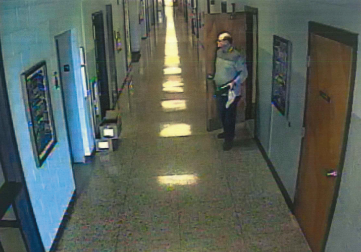 A man being sought by Brick police, at St. Dominic School May 18. (Photo: Brick Twp. Police)