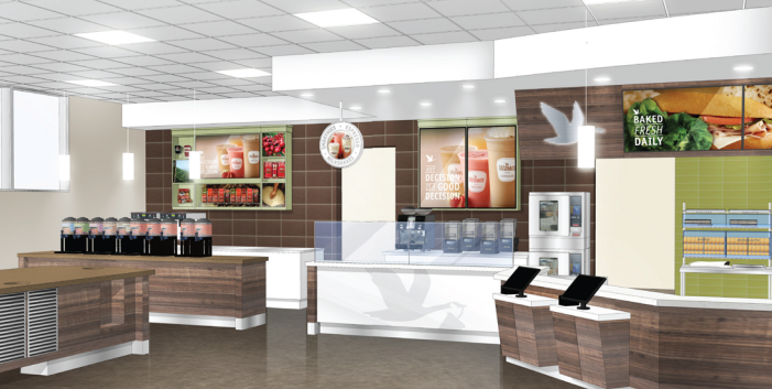 A rendering of what the Brick Wawa store will look like following a renovation project. (Photo: Wawa)