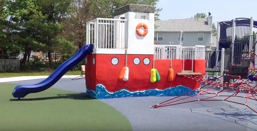 Children's play equipment at Angela Hibbard Park. (Photo: Township of Brick)