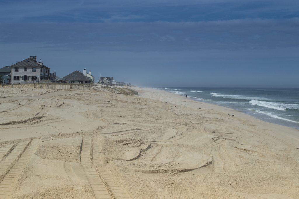 Brick Beach III, with sand covering the sea wall, May 11, 2016. (Photo: Daniel Nee)