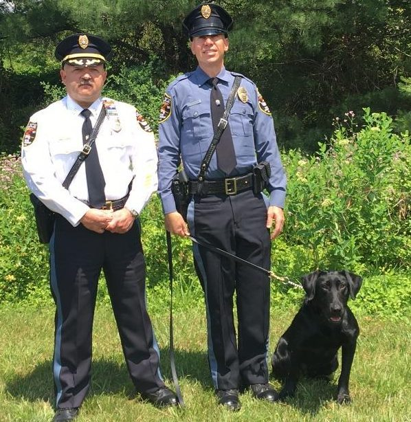 Officer John Turrin and K9 Vader. (Photo: Brick Twp. Police)