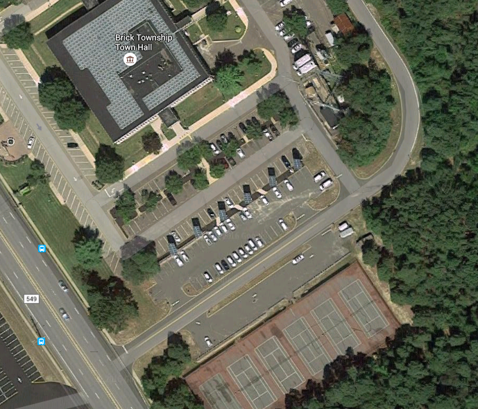Tennis courts near the Brick Township municipal building. (Credit: Google Maps)