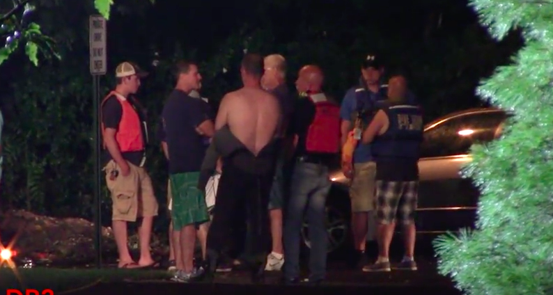First responders at the scene of a car crash into the Point Pleasant Canal. (Video: Demonracer2/YouTube)