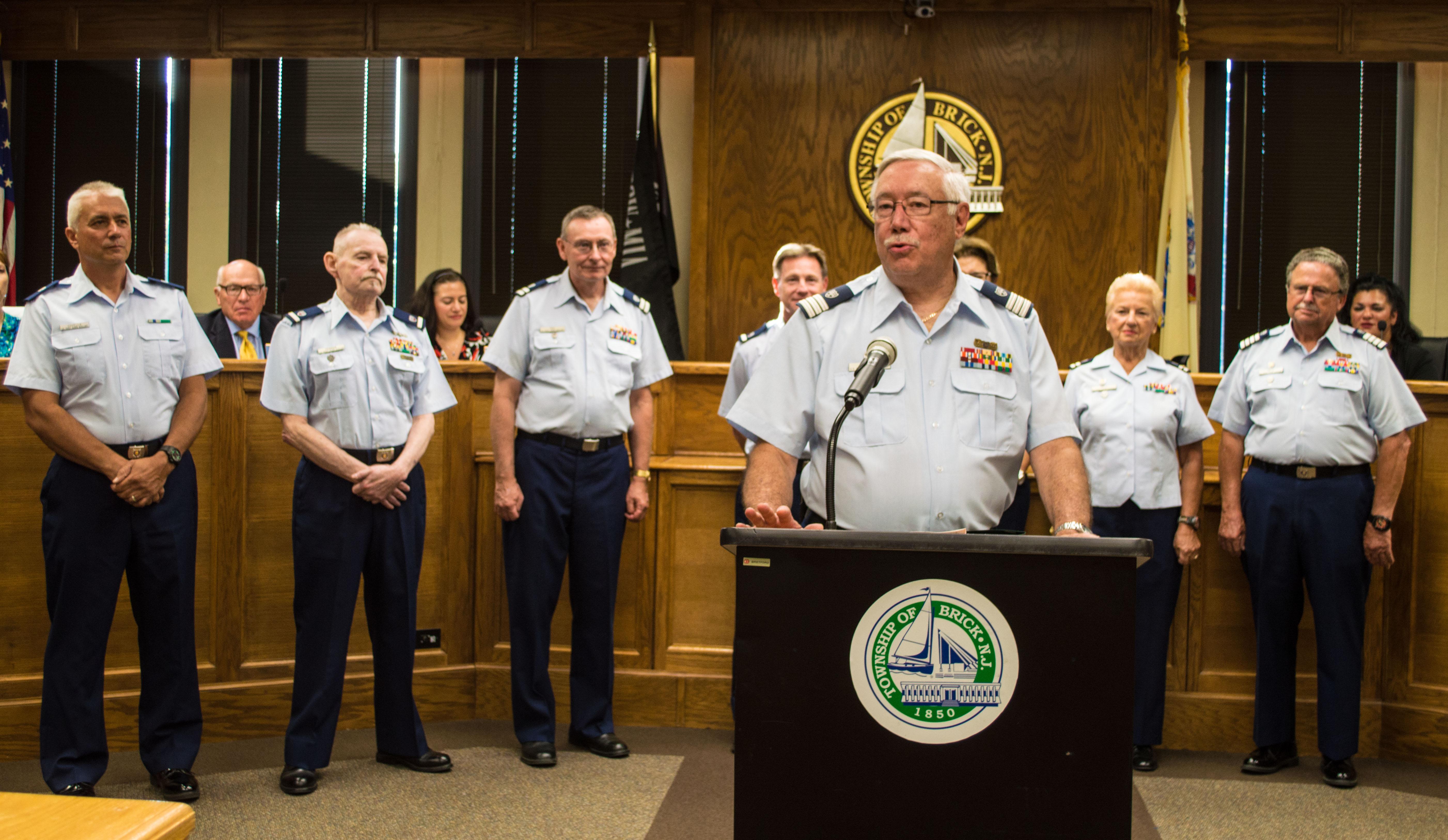 Members of Brick US Coast Guard Auxiliary Flotilla 16-05. (Photo: Daniel Nee)