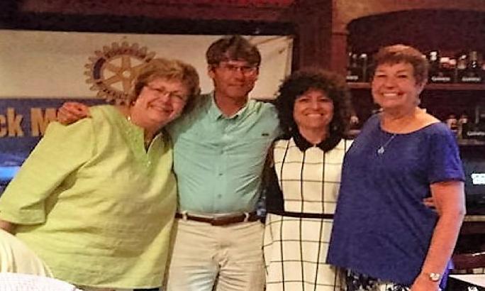 Rotary 2016-2017 Officers, Treas. Carol Daniels, Sec. Dr. Fred Nirschl, Vice-P. Arlene Schwartz and Pres. Gene-Ann Pesano