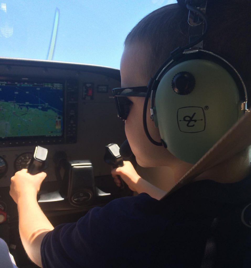 "Matthew Dougard, 6, of Brick, in the cockpit of the ""Nikki."" (Photo: Kelly Dougard)"