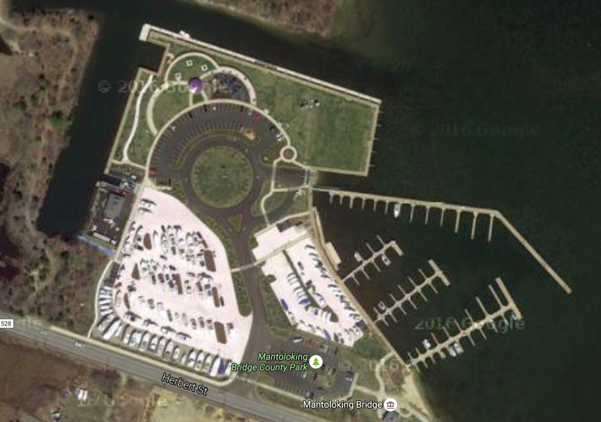 An aerial view of Traders Cove Marina. (Credit: Google Maps)