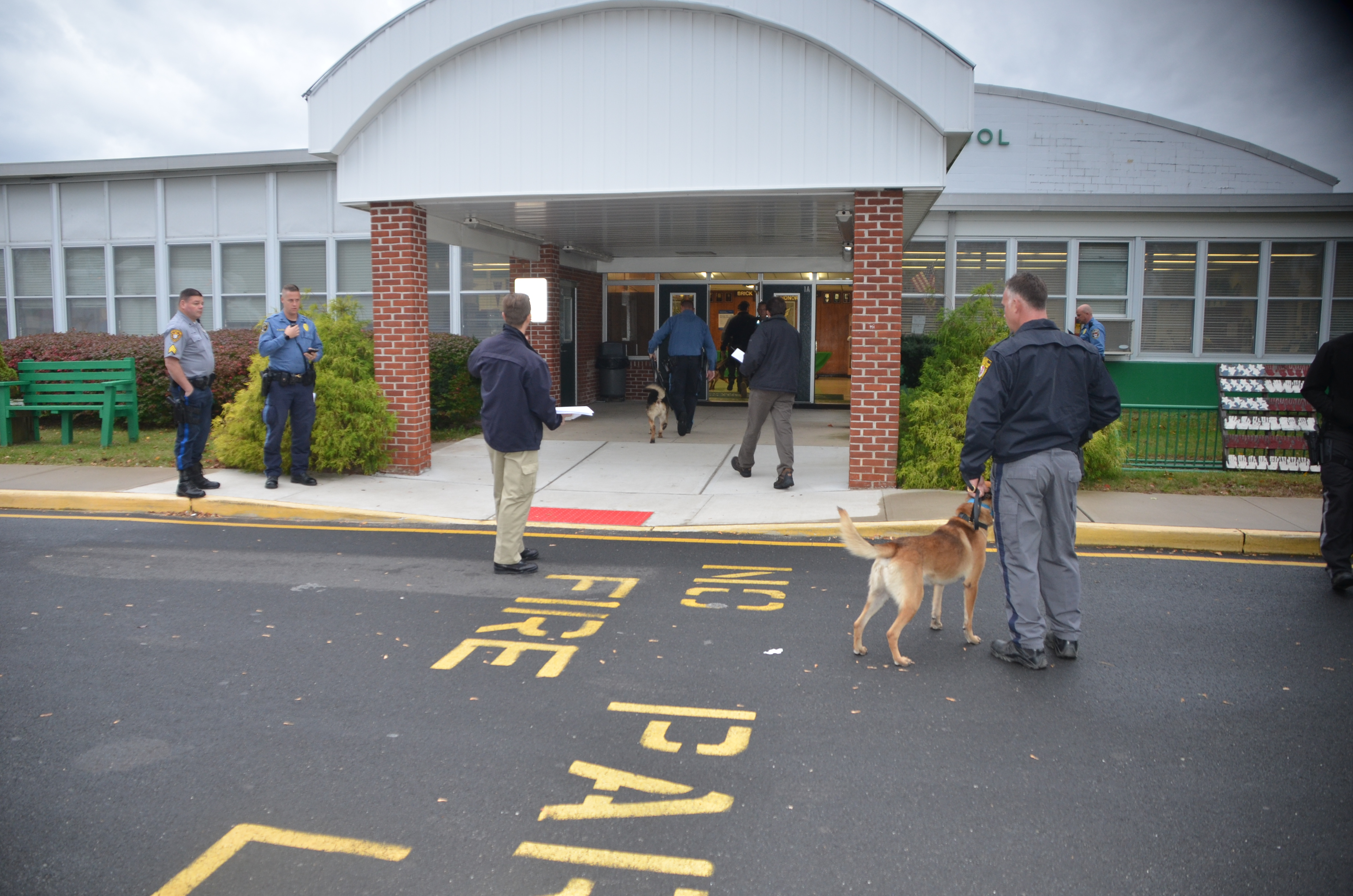 Police K9s at Brick Township High School. (Photo: OCPO)