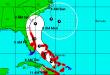 The forecast from the National Hurricane Center on Hurricane Matthew, Sept. 5, 2016. (Credit: NHC)