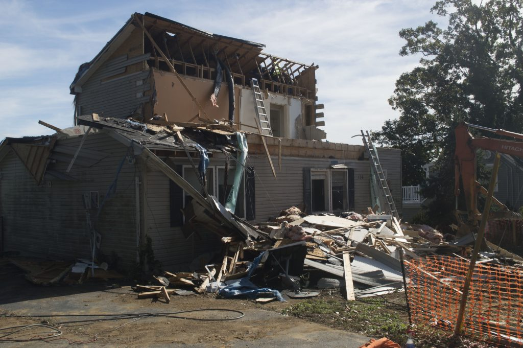 The home at 126 South Beverly Drive is demolished. (Photo: Daniel Nee)