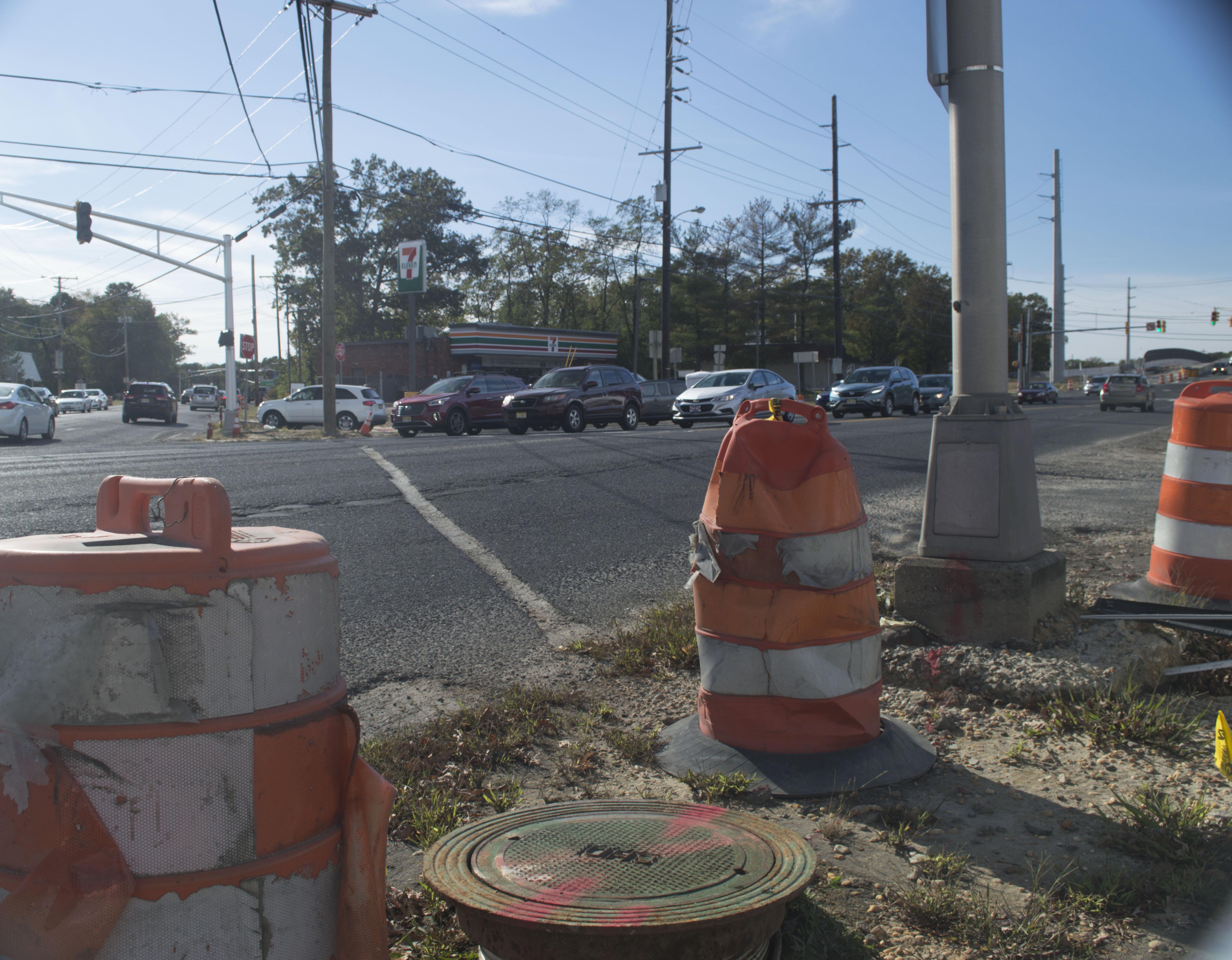 Construction at interchange 91 of the Garden State Parkway in Brick, Oct. 26, 2016. (Photo: Daniel Nee)