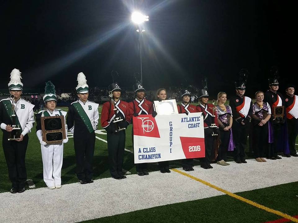 Members of the Marching Dragons receive awards at the 2016 Tournament of Bands. (Photo: Marching Dragon Caravan)