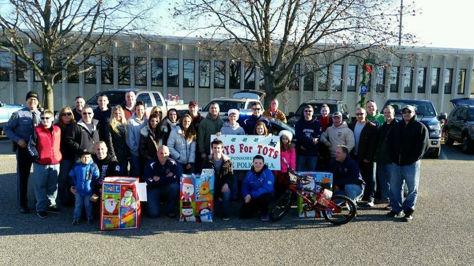 Organizers of the PBA Local 230 annual toy drive. (Photo: Brick Twp. Police)
