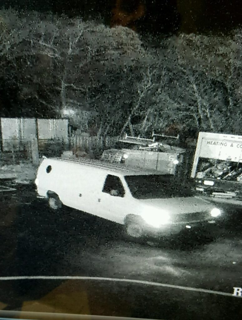 The van being driven by a suspected copper thief. (Photo: Brick Twp. Police)