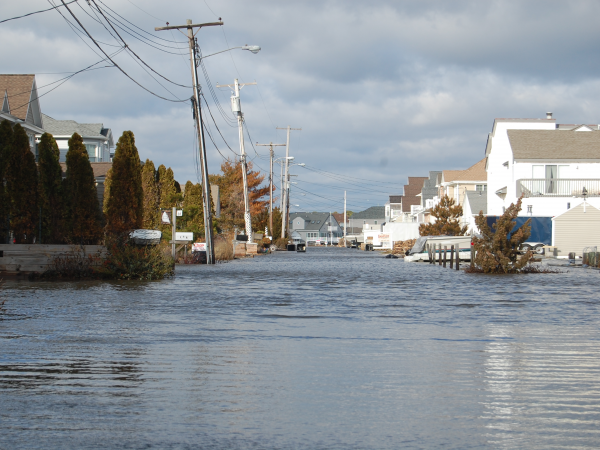 Flooding in Brick's Shore Acres neighborhood after Superstorm Sandy. (Photo: Daniel Nee)