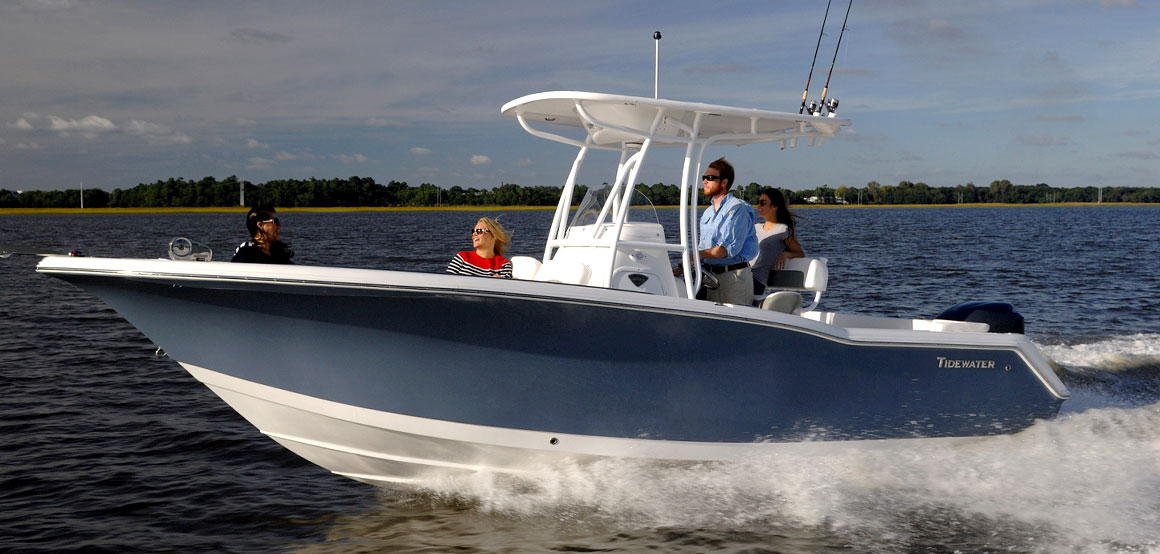 A Tidewater center console boat. (Credit: Tidewater)