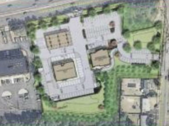 A rendering of a proposed Wawa store and restaurant in Brick, N.J. (Credit: Supplied Photo)