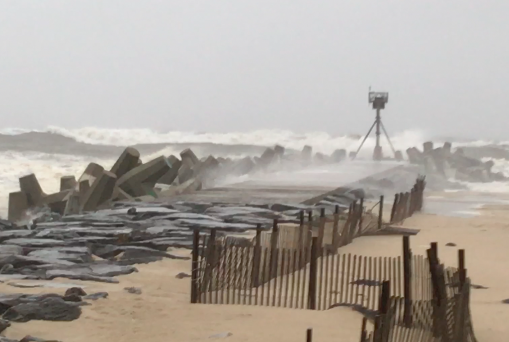 Waves whipped up at Manasquan Inlet from the Jan. 27, 2017 nor'easter. (Photo: Daniel Nee)