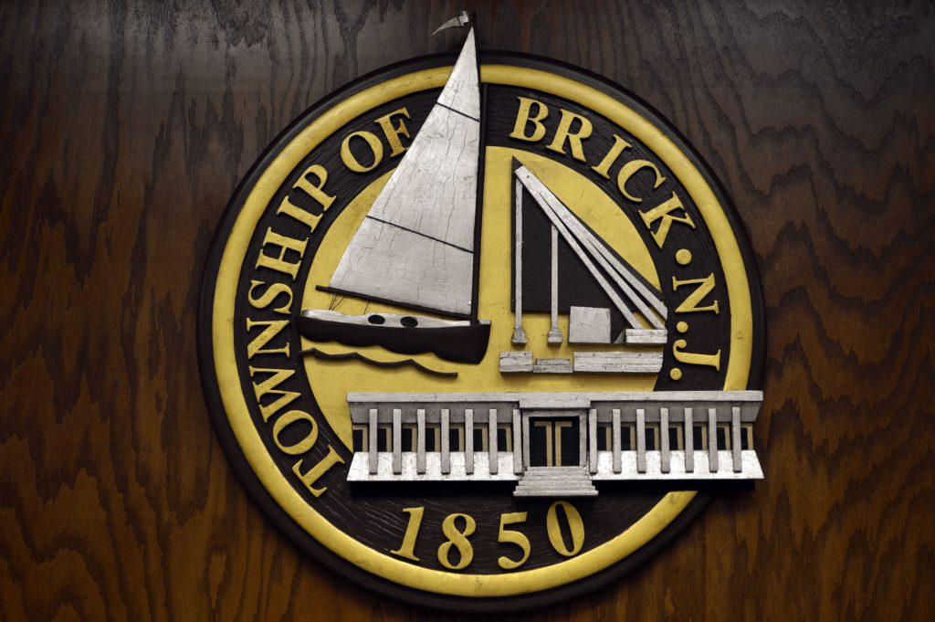 The logo of Brick Township, N.J. (Photo: Daniel Nee)
