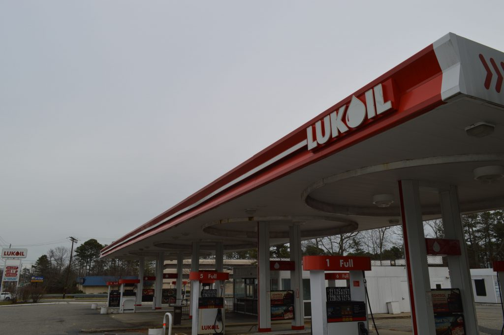 The Lukoil station at Route 88 and Jordan Road. (Photo: Daniel Nee)