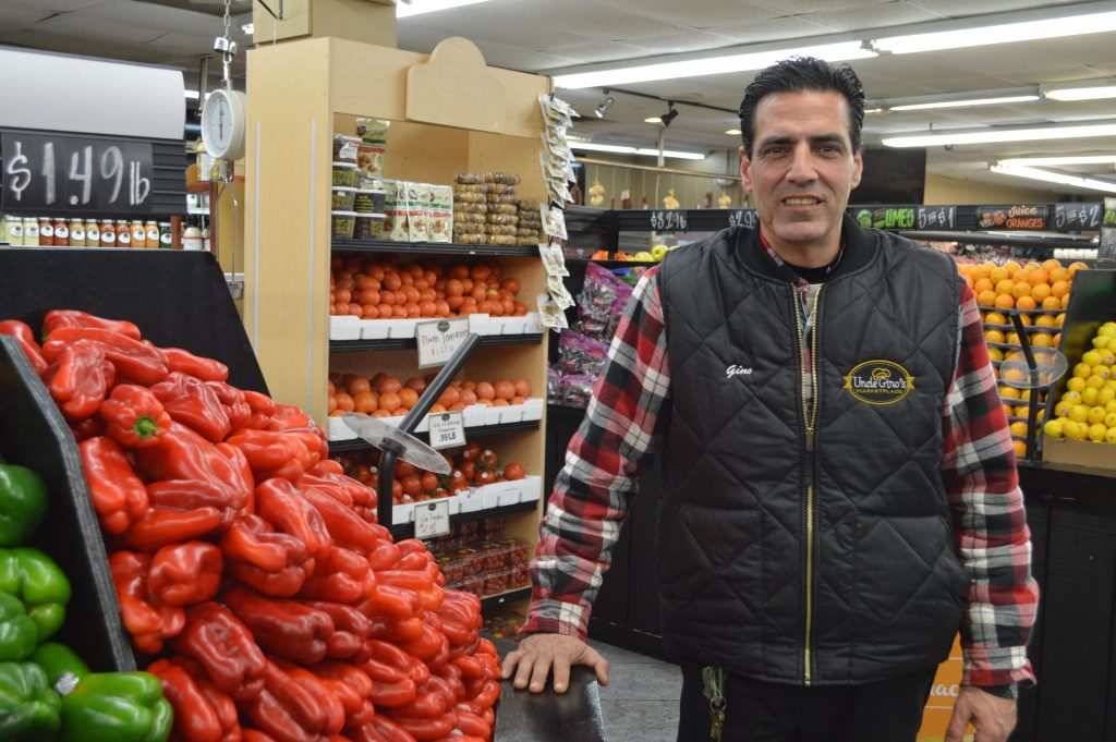 Gino Palummo at his store in Brick, Uncle Gino's Market. (Photo: Daniel Nee)