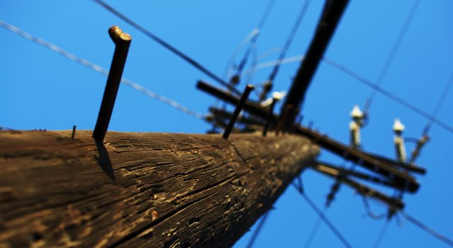 Utility/Electrical pole. (Credit: Maëlick/Flickr)