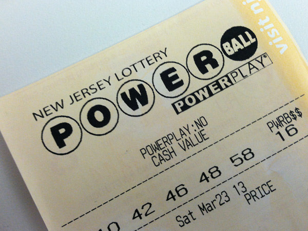 NJ Powerball lottery ticket. (File Photo)