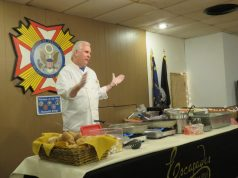 Thomas Fitzgerald leads a cooking lesson at the Brick senior center. (Credit: Brandywine)