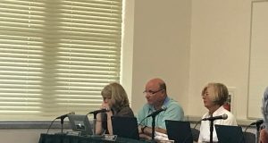 Dennis Fillippone (center), was selected as the Brick school district's new interim superintendent June 26, 2017. (Photo: Daniel Nee)
