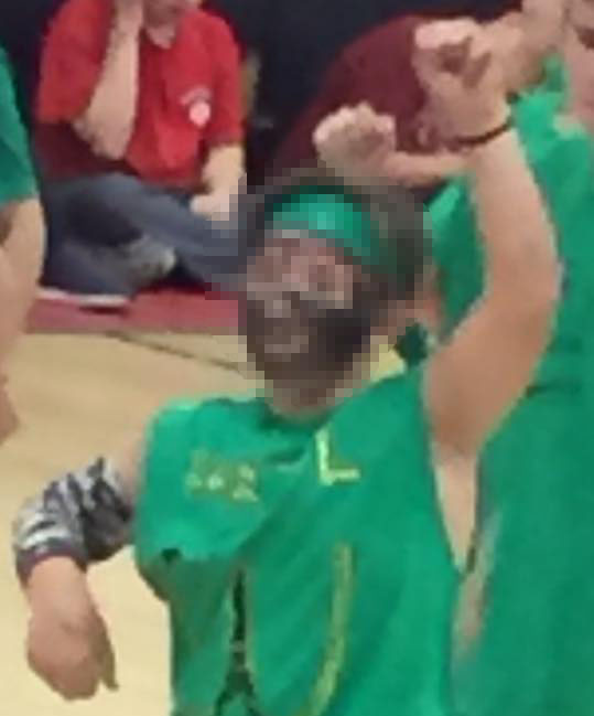 A photo of a student, with identifying features pixelated out, wearing what was considered by some to be a racially offensive costume. (Submitted Photo)