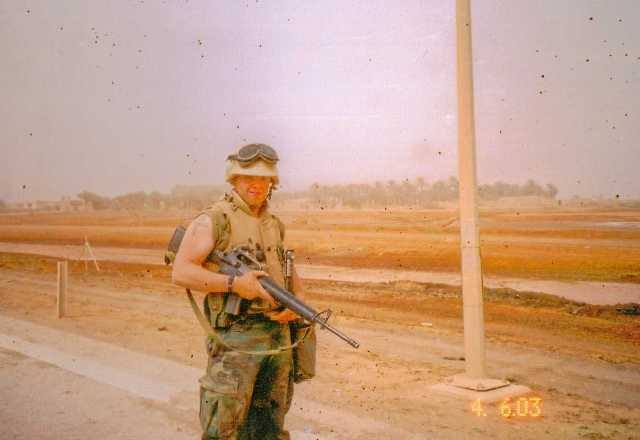 Dennis Addesso in Iraq. (Photo: Dennis Addesso)