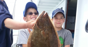 Two happy, young anglers with their catch on board the Norma-K out of Point Pleasant. (Photo: Norma-K crew.)