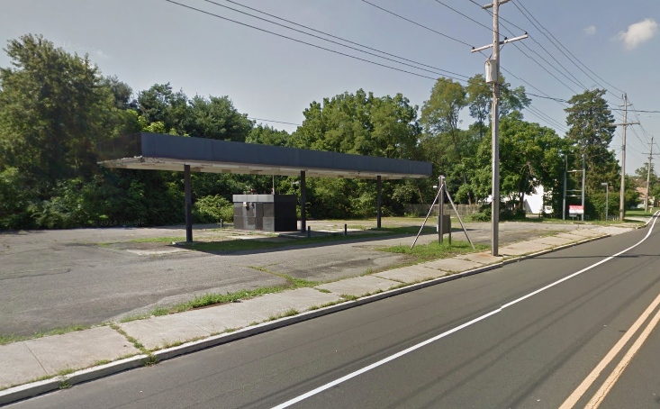 A former gas station along Route 88 slated for redevelopment. (Credit: Google Maps)