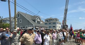 The 2017 Normandy Beach July 4 flag raising. (Photo: Daniel Nee)