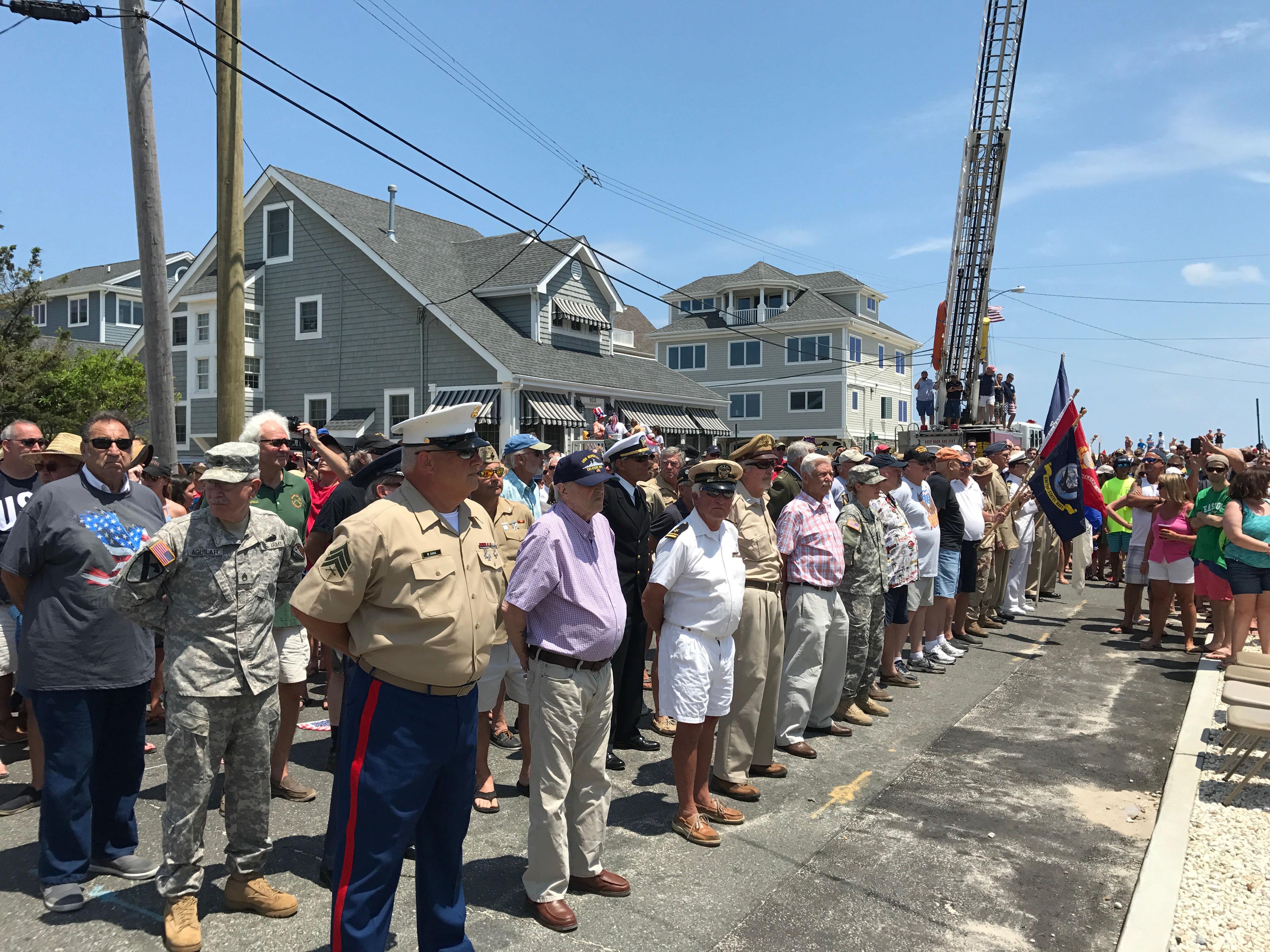 The 2017 Normandy Beach July 4 flag raising. (Photo: Daniel Nee)