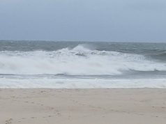 Rough surf spurred by Hurricane Jose, Seaside Heights, N.J., Sept. 19, 2017. (Photo: Daniel Nee)