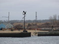 Missing bulkheading at Manasquan Inlet (Photo: Barnegat Bay Island/ Facebook)