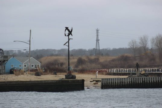 Missing bulkheading at Manasquan Inlet (Photo: Barnegat Bay Island/ Facebook)