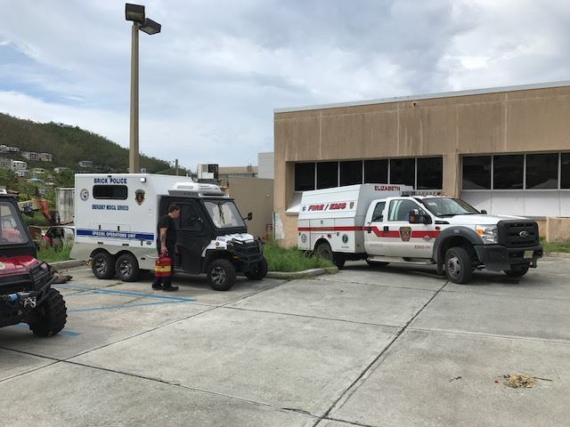 Brick EMS employees serve in the aftermath of hurricanes Irma and Maria. (Photo: Brick Twp. Police)
