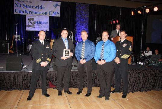 Brick officials receive an award for the Blue HART program. (Photo: Brick Twp. Police)