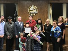 Councilwoman Marianna Pontoriero is joined by family and colleagues, Nov. 13, 2017. (Photo: Daniel Nee)