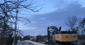 Construction on the Midstreams Bridge, Jan. 2018. (Photo: Daniel Nee)