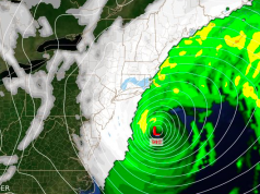 Modeling of a coastal storm expected to strike New Jersey Jan. 4, 2017. (Photo: Daniel Nee)