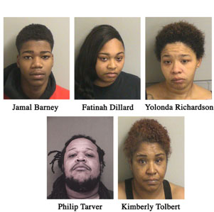 Suspects arrested in a heroin/drug distribution ring. (Photos: TRPD)